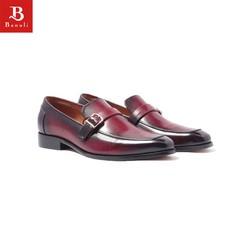 Giày Tây Nam Loafer Cao Cấp, da bò nhập khẩu Banuli - H1ML1M0