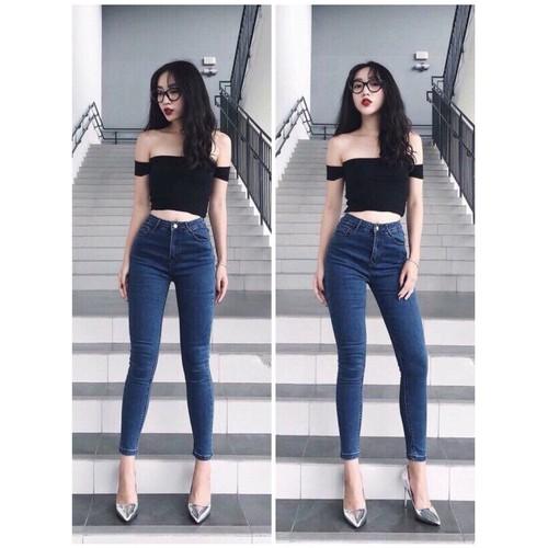 [50kg~90kg] quần jean dài big size co dãn mạnh xanh đậm trơn đơn giản đẹp 2269