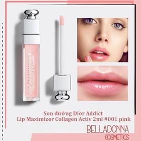 [Mini Size] Son dưỡng Dior.Addict Lip Maximizer Collagen Activ 2ml #001 pink - dior.lip.collagen.001.pink.2ml