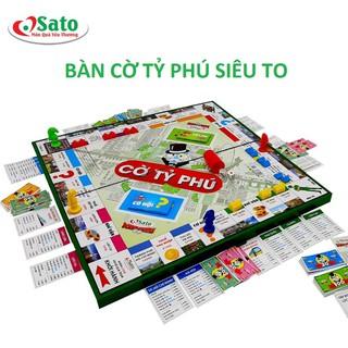 Đồ Chơi Bàn Cờ Tỷ Phú Monopoly Bé Học Làm Giàu Kích Thước 42x42 cm - COTYPHUTO thumbnail