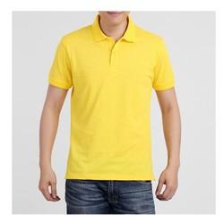 Áo phông ngắn tay nam cổ bẻ màu vàng chất đẹp