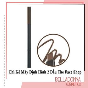 Chì Kẻ Mày Định Hình 2 Đầu The.Face Shop Designing Eyebrow Pencil 3g #05 - Dark Brown: Nâu sẫm - tfs.may. #05