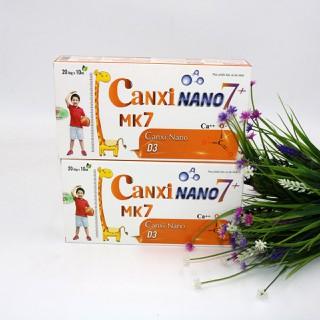 Hộp 20 ống Canxi Nano MK7+ bổ sung canxi, giúp xương chắc khỏe và hỗ trợ tăng chiều cao cho trẻ - canxi ống thumbnail