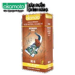 Bao cao su Okamoto Roman Gân Hoa Hồng Hộp 10 Cái