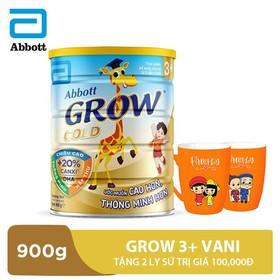 Bộ 1 lon Grow 3+ hương vani 900g tặng 2 ly sứ trị giá 100,000đ - GRO028764