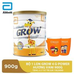 Bộ 1 lon Grow 4 G-Power hương vani 900g tặng 2 ly sứ trị giá 100,000đ