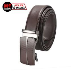 Thắt lưng nam , dây nịt nam Minh Tâm da cao cấp , khóa tự động , đen or nâu