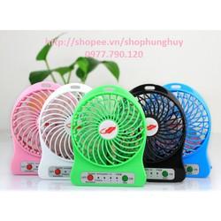 Quạt tích điện USB mini Fan 3 tốc độ Nhỏ Gọn Tiện Dụng