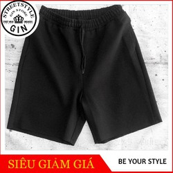 Quần shorts thun đen - Gin store