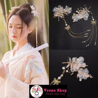 Cài tóc cổ trang hoa bướm phụ kiện kẹp tóc nữ tính xinh xắn dễ thương cosplay - cài tóc18 thumbnail