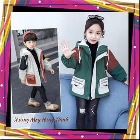 áo khoác cho bé từ 5 đến 14 tuổi kèm ảnh thật M39 - M39