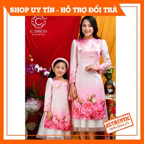 Áo dài bé gái 2 lớp vải tafta in hoa hồng, áo cách tân cho mẹ và bé hàng thiết kế cdress - 19962170 , 25146804 , 15_25146804 , 350000 , Ao-dai-be-gai-2-lop-vai-tafta-in-hoa-hong-ao-cach-tan-cho-me-va-be-hang-thiet-ke-cdress-15_25146804 , sendo.vn , Áo dài bé gái 2 lớp vải tafta in hoa hồng, áo cách tân cho mẹ và bé hàng thiết kế cdress