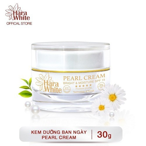 [HỖ TRỢ 20K SHIP] Kem Dưỡng Trắng Da Ngọc Trai Ngăn Ngừa Lão Hóa, Nhăn Da, Se Khít Lỗ Chân Lông Hara White Pearl Cream