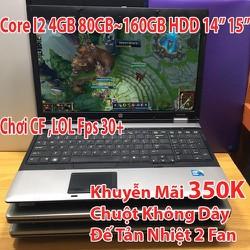 Laptop Giá Rẻ Sập Sàn i2 4GB Ổ 80Gb đến 320GB Mới 85+ Trở lên - Chơi LOL,CF,Youtube...