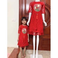 Sét áo dài cách Tân cho mẹ và bé