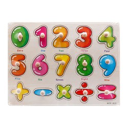 Bảng số từ 0-9 và phép tính loại có núm gỗ