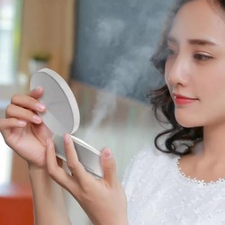 Gương trang điểm có đèn led kiêm phun sương nano pin sạc dự trữ