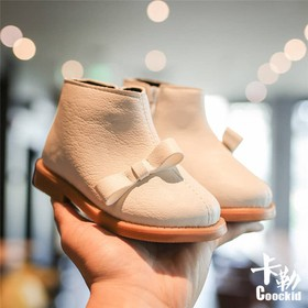 Giày Boot Đính Nơ Cho Bé Yêu - B227