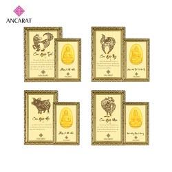 Miếng vàng 24K - Phật 12 con giáp bình an - ANCARAT