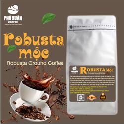 [QUÀ TỪ 1KG + TRỢ SHIP] 500GR Cà phê Robusta Mộc Nguyên Chất Buôn Ma Thuột Phú Xuân Coffee - Cà phê rang xay mộc pha phin pha máy