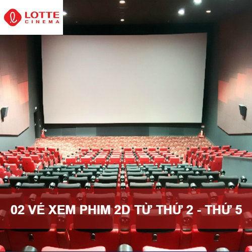 [Evoucher] 02 vé xem phim 2d từ thứ 2 - thứ 5 tại lotte cinema