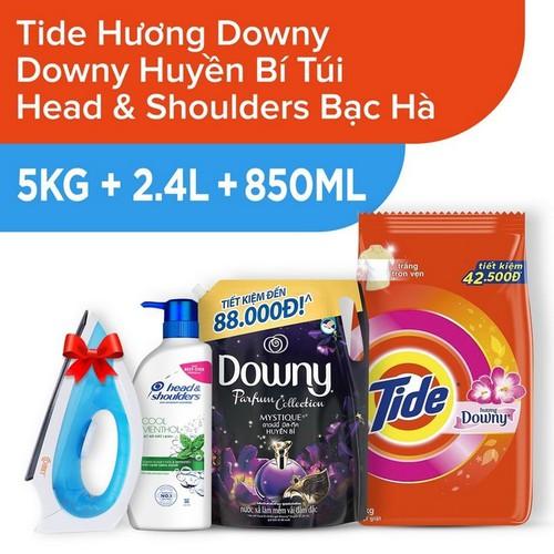 [Tặng bàn ủi comet] bột giặt tide hương downy gói 5kg + nước xả vải downy huyền bí túi 2.4l + dầu gội head và shoulders bạc hà mát lạnh 850ml - 19984250 , 25176359 , 15_25176359 , 529000 , Tang-ban-ui-comet-bot-giat-tide-huong-downy-goi-5kg-nuoc-xa-vai-downy-huyen-bi-tui-2.4l-dau-goi-head-va-shoulders-bac-ha-mat-lanh-850ml-15_25176359 , sendo.vn , [Tặng bàn ủi comet] bột giặt tide hương down