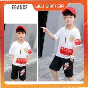 SÉt bộ quần áo trẻ em in hình AEJ dành cho bé trai 18-28kg kiểu dáng năng động thiết kế hợp thời trang - BỘ IN AEJ