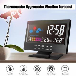 Đồng Hồ Để Bàn LED LCD Báo Thức Thời Tiết Cảm Biến Âm Thanh Cao Cấp 206759 - 206759 thumbnail