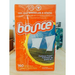 Giấy thơm quần áo Bounce hộp 160 tờ