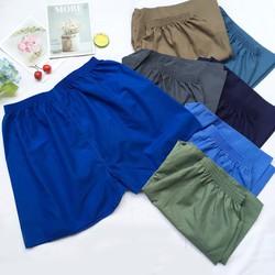 Quần đùi nam từ 42-70kg Quần sọt nam vải kate màu trơn
