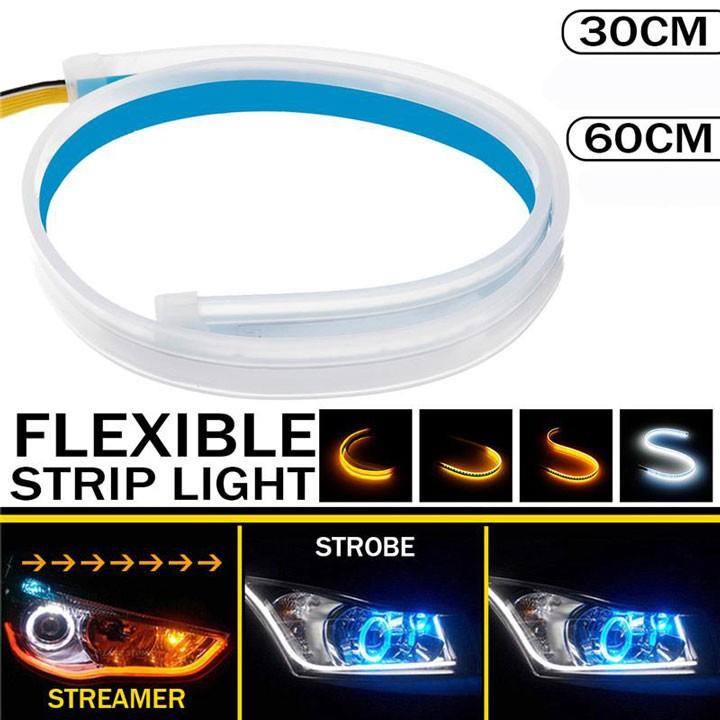 led mí - demi - Đèn Led Streamer Dán Đèn Xe Xi Nhan Nháy Đuổi 30/45/60cm Nhiều Màu