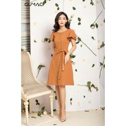Đầm nữ thêu dây eo GUMAC MS12093_NAU