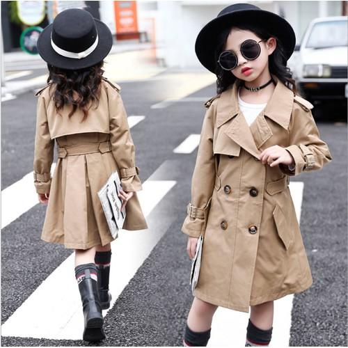 K30509 - áo khoác dáng dài bé gái hàng nhập - giá 430k
