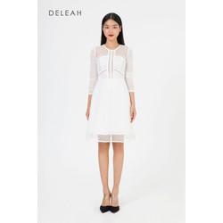 De Leah - Đầm Xoè Lưới Can Ren Thang - Thời Trang Thiết Kế