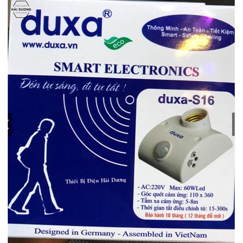 Đui đèn cảm ứng duxa s16 - cảm biến chuyển động - sử dụng đui e27 - bảo hành 12 tháng
