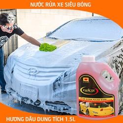 Dung dịch rửa xe siêu bóng PALLAS super polish wash concentrate 1.5L, nước rửa xe đậm đặc bảo vệ, bảo dưỡng mặt sơn xe hơi, ô tô, xe tải, xe khách_P-1502