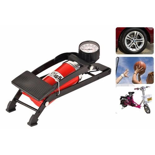 Bơm hơi đạp chân mini ô tô, xe máy , xe đạp cao cấp - bơm đạp chân mini