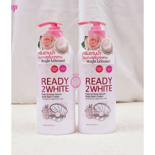 Sữa tắm cathy doll ready 2 white pearl & rose serum 500ml