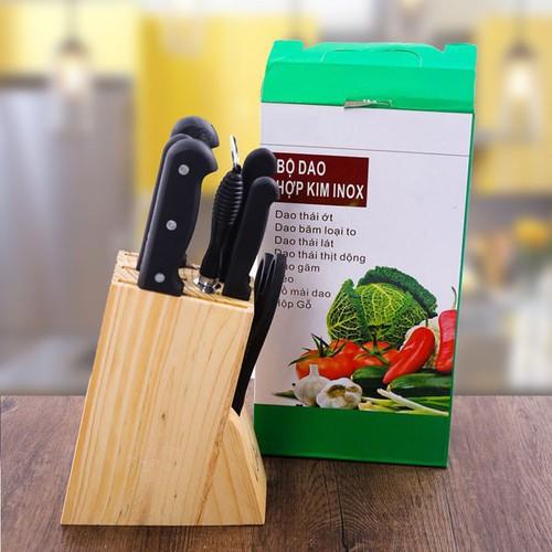 Bộ dao nhà bếp 7 món cao cấp tặng kèm hộp đựng bằng gỗ - 19999187 , 25193543 , 15_25193543 , 180000 , Bo-dao-nha-bep-7-mon-cao-cap-tang-kem-hop-dung-bang-go-15_25193543 , sendo.vn , Bộ dao nhà bếp 7 món cao cấp tặng kèm hộp đựng bằng gỗ