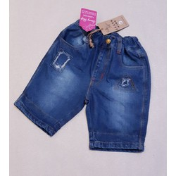 quần short jean cho bé trai