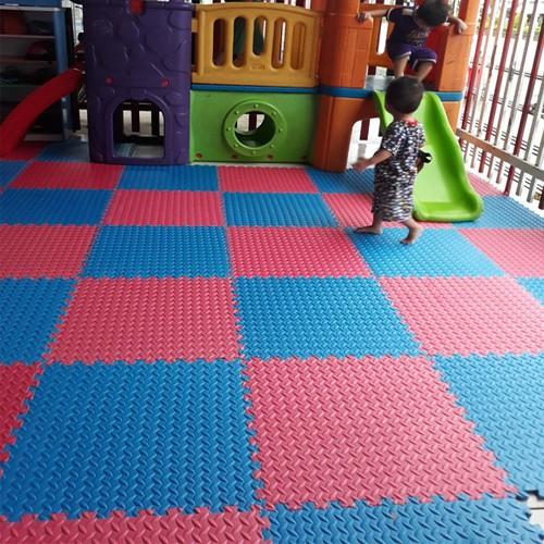 Thảm xốp - thảm xốp vân khế bộ 4 tấm 60x60 cm