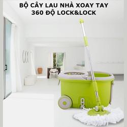 Bộ Cây Lau Nhà Xoay Tay 360 Độ lồng Inox Locku0026Lock Walkable MOP-L.003