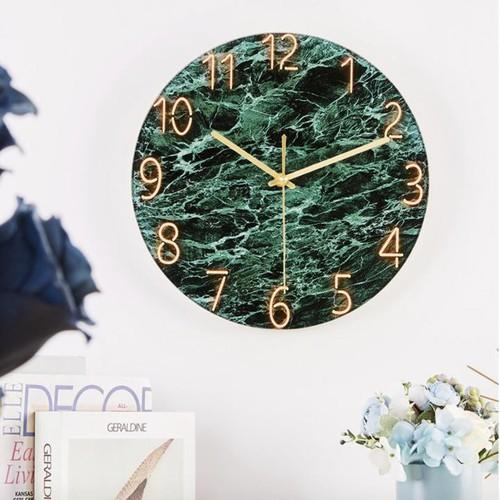 Đồng hồ treo tường mặt kính dày 4mm phong cách tối giản luxury clock