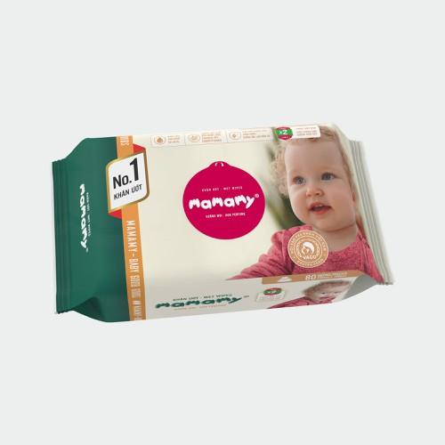 Khăn ướt mamamy 80 tờ bổ sung không mùi kháng khuẩn, an toàn cho bé
