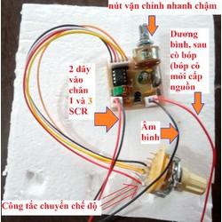 pic 5 chế độ băm cách ly dùng độ cho máy kích đ tử