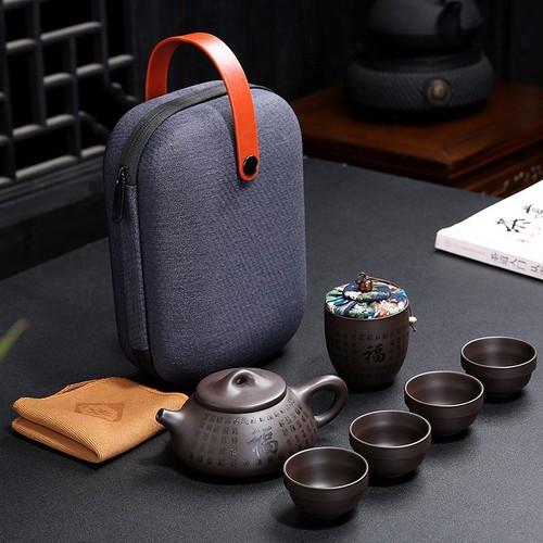 Bộ bình trà có túi đựng đi du lịch