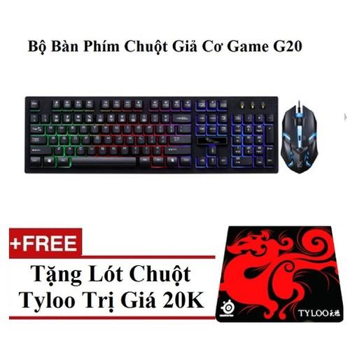 Bộ phím + chuột chuyên game g20 led 7 màu tặng miếng lót - 20014799 , 25211558 , 15_25211558 , 145000 , Bo-phim-chuot-chuyen-game-g20-led-7-mau-tang-mieng-lot-15_25211558 , sendo.vn , Bộ phím + chuột chuyên game g20 led 7 màu tặng miếng lót