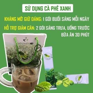 cà phê xanh thiên nhiên giảm cân hộp 10 gói - cà phê xanh thumbnail