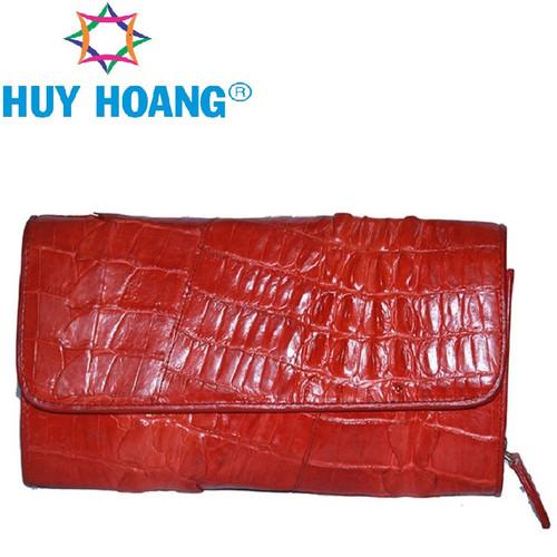 Túi đeo nữ da cá sấu huy hoàng 2 gai màu đỏ eh6270
