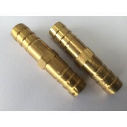 2 chiếc cút đồng nối dây mềm đường kính 10mm